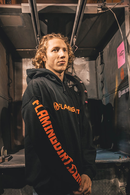 Flaming Dirt Icon Hoodie