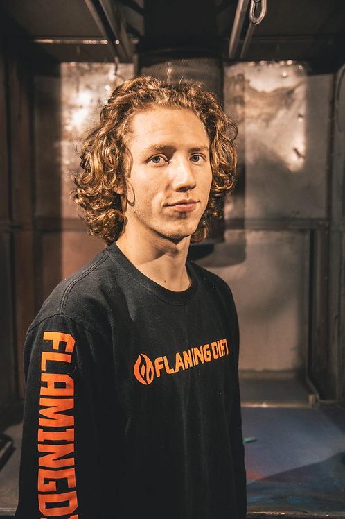 Flaming Dirt Orange Label Long Sleeve T-shirt