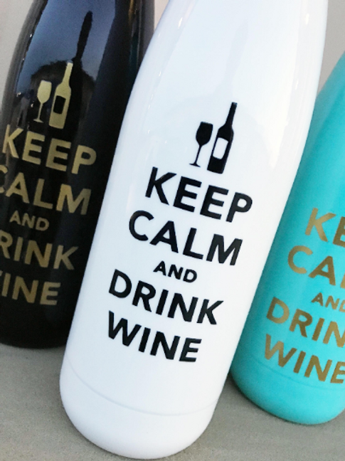 "17oz ""Keep Calm and Drink Wine"" Rtic Bottle"