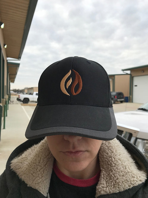 Flaming Dirt custom embroidered Ball cap w/ icons