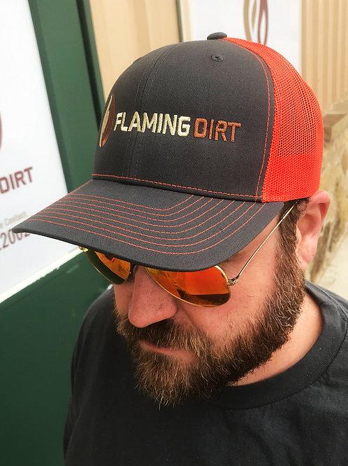 Flaming Dirt custom Richardson 112 Trucker Cap