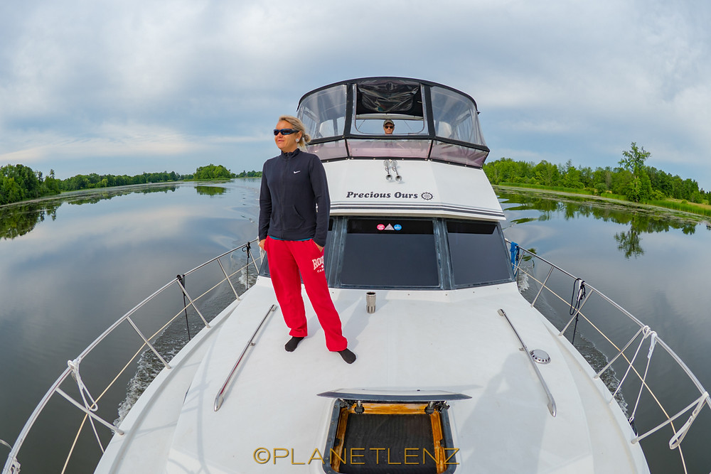 Boating between the locks in smiths falls