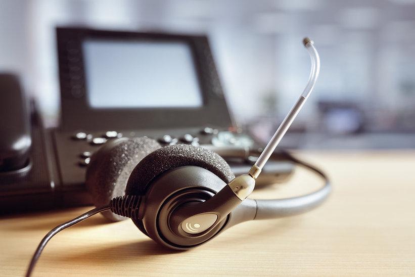 Telephony headset