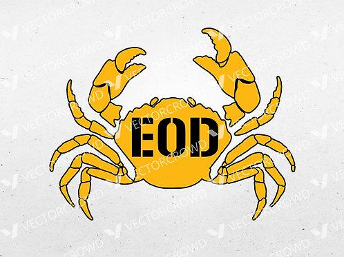 EOD Explosive Ordnance Disposal Crab | SVG Cut File