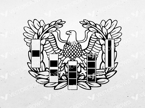 US Army Warrant Officer Eagle Rising Badge | SVG Cut File