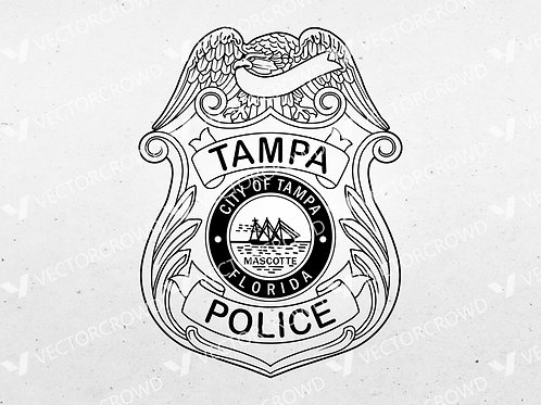 Tampa Florida Police Officer Badge | VectorCrowd