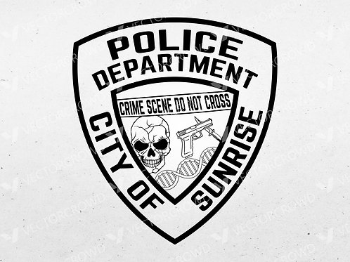 Sunrise Florida Police Department Patch | Vector Image