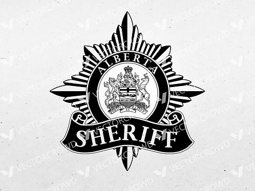 Alberta Canada Sheriff's Branch Logo | SVG Cut File