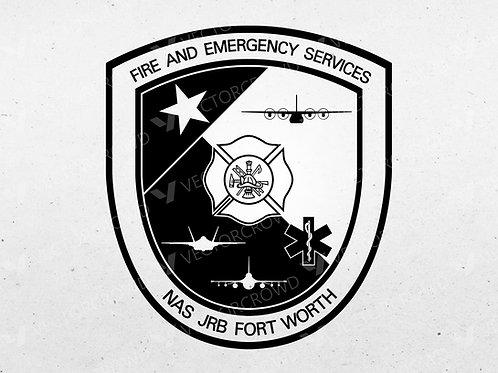 NAS JRB Fort Worth Texas Fire Department Emblem | VectorCrowd