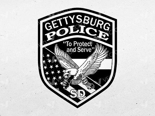 Gettysburg South Dakota Police Officer Badge | Vector Image