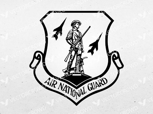 Air National Guard Logo  | SVG Cut File