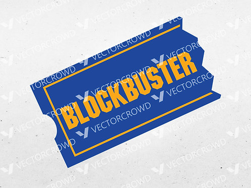 Blockbuster Video Logo | SVG Cut File
