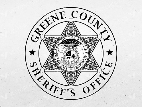 Greene County Missouri Sheriff Department Badge | SVG Cut File