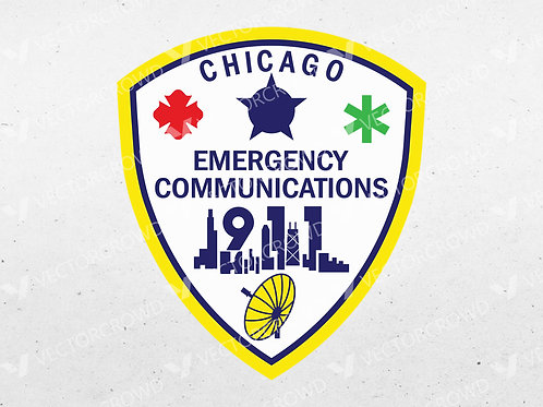 City of Chicago Emergency Communications Patch | Vector Images | VectorCrowd
