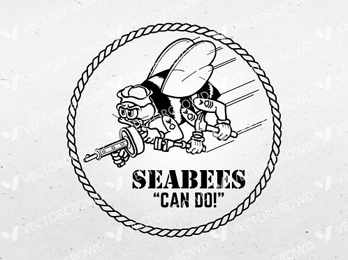 US Navy Seabees Insignia | SVG Cut File