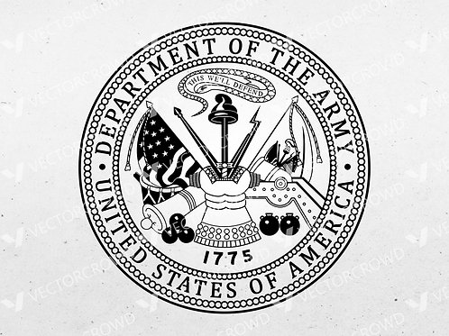 Department of the Army Seal | Vector Images | VectorCrowd