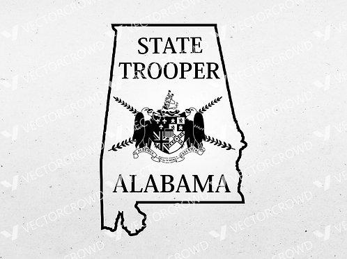 Alabama State Police Trooper Logo | SVG Cut File