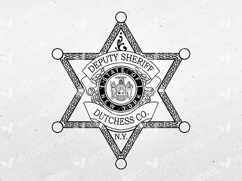 Dutchess County New York Sheriff's Department Badge | Vector Image