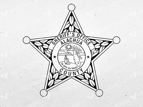 Alachua County Florida Sheriff Department Badge | Vector Image