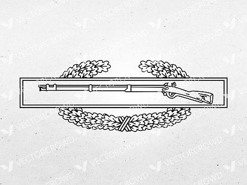 U.S. Army Combat Infantryman Badge CIB Insignia   SVG Cut File