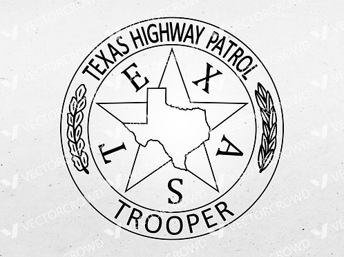Texas DPS Highway Patrol Trooper Badge | SVG Cut File