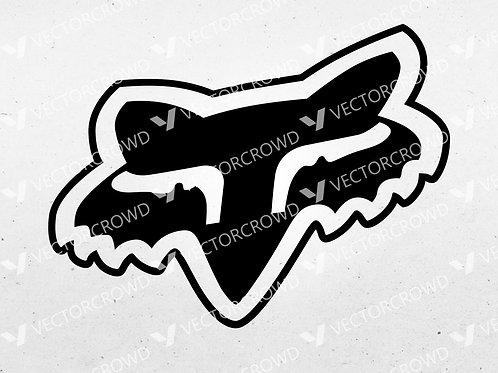 Fox Racing Head Logo   SVG Cut File