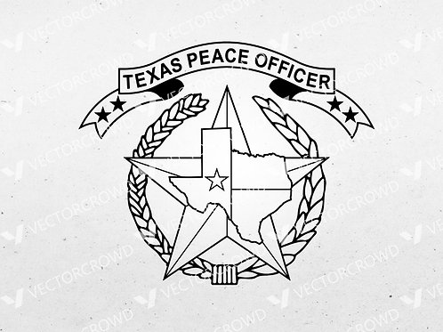 Texas Peace Officer Logo | SVG Cut File