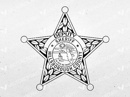 Hillsborough County Florida Sheriff Department Badge   VectorCrowd