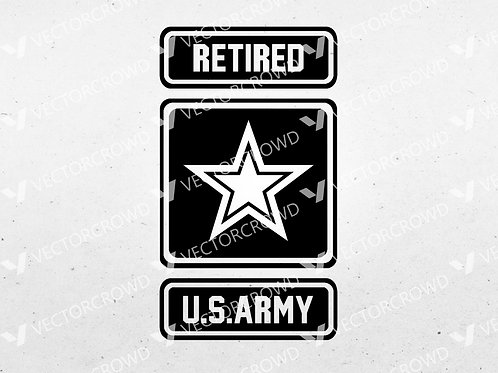 US Army Retired Logo Star | SVG Cut File