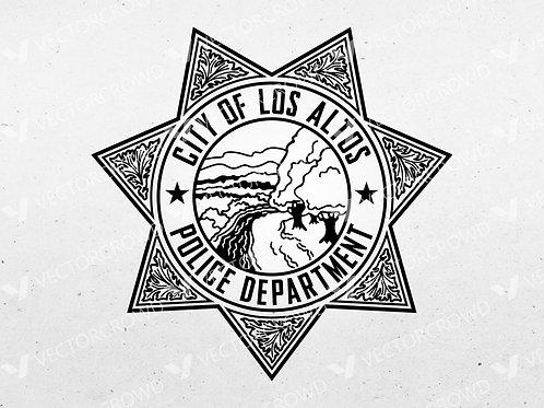 Los Altos California Police Department Badge | Vector Image