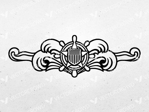 Coast Guard Cutterman Insignia | SVG Cut