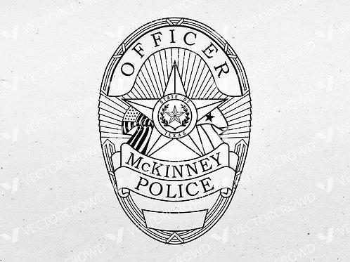 McKinney Texas Police Officer Badge | VectorCrowd