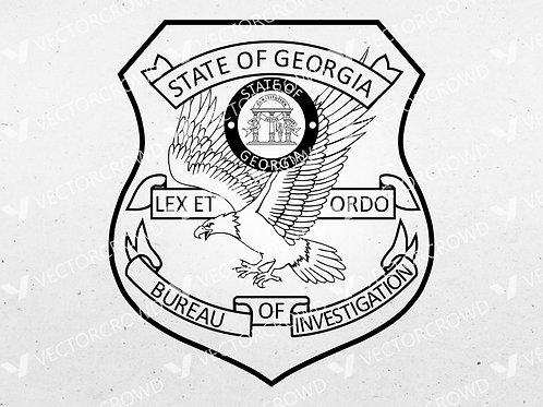 Georgia Bureau of Investigation Logo | SVG Cut File