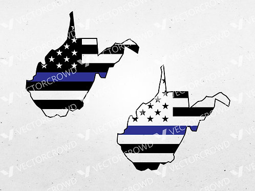 West Virginia Thin Blue Line State | SVG Cut