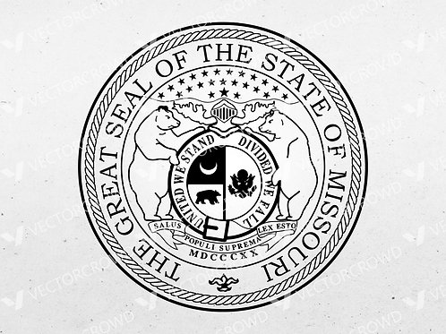 Missouri MO State Great Seal | Vector Image