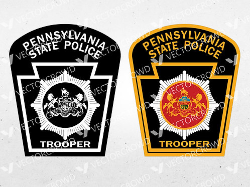 Pennsylvania State Police Department Trooper Seal  | SVG Cut File