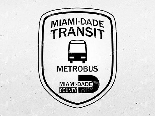 Miami Dade Transit Metrobus Patch | SVG Cut File