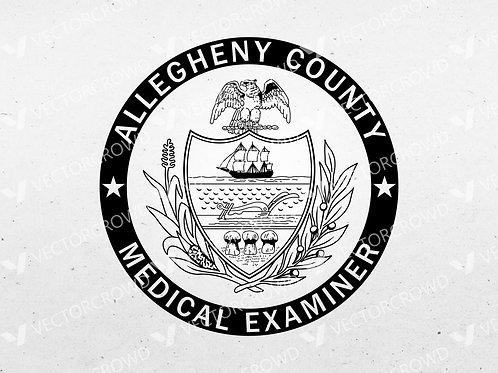 Allegheny County Pennsylvania Medical Examiner | Vector Image
