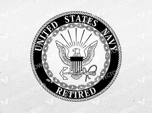 United States Navy Retired Seal Eagle Anchor Seal | SVG Cut File