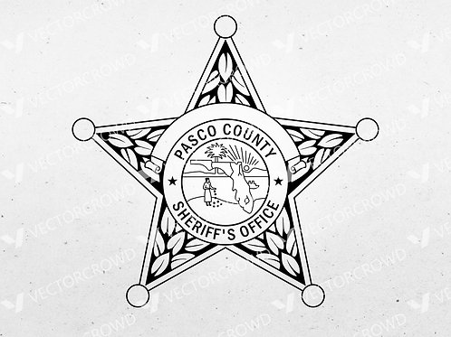 Pasco County Florida Sheriff Department Badge | Vector Image
