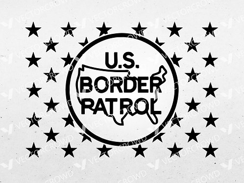 United States Border Patrol DHS Union US American Flag | SVG Cut File
