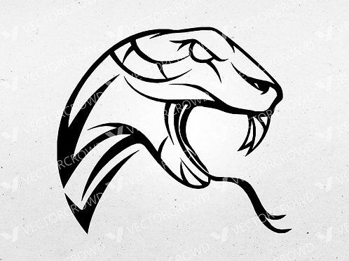 Snake Head Striking   Vector Images   VectorCrowd