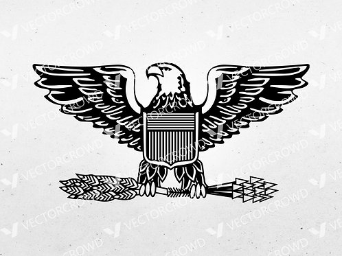 Colonel Air Force Eagle US Marines Army Rank Insignia | SVG Cut