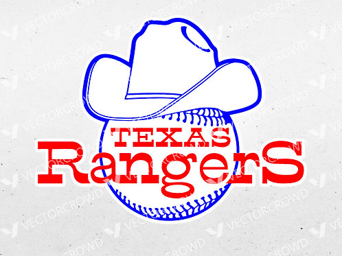 Texas Rangers Baseball Vintage Logo | SVG Cut File