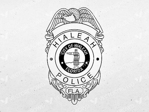 Hialeah Florida Police Department Badge | Vector Image