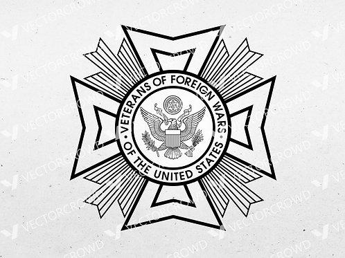 Veterans of Foreign Wars Logo | SVG Cut File