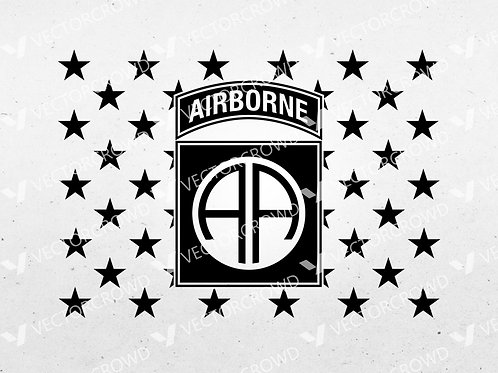 82nd Airborne Division Army Infantry Union | SVG Cut File