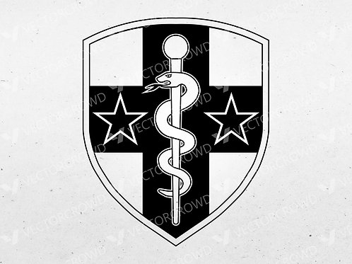 U.S. Army Reserve Medical Command Logo | SVG Cut File | VectorCrowd