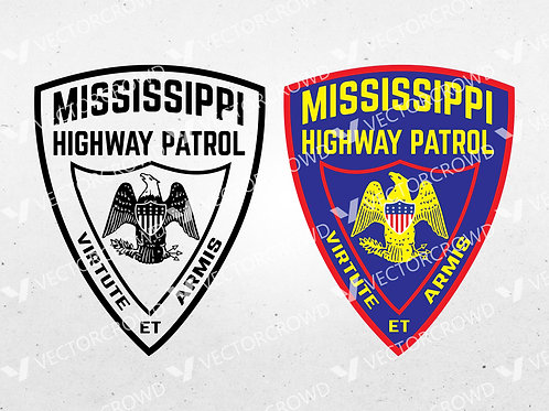 Mississippi Highway Patrol MHP Logo | SVG Cut