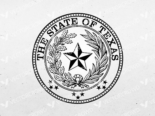 Texas State Seal | SVG Cut File